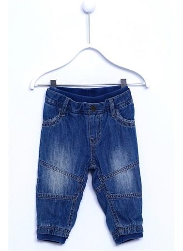 Silversun Kids Denim Kot Pantolon Denim 4 Cepli Beli Ve Paçası Lastikli Kot Pantolon Bebek Erkek Pc 110818 Mavi